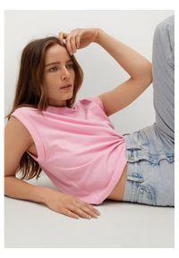 mango - Mango Bluzka Luma 17072004 Różowy Regular Fit. Kolor: różowy