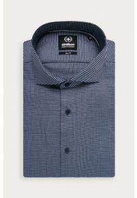Strellson - Koszula bawełniana. Typ kołnierza: kołnierzyk włoski. Kolor: niebieski. Materiał: bawełna