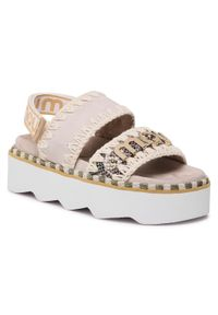 Beżowe sandały Mou