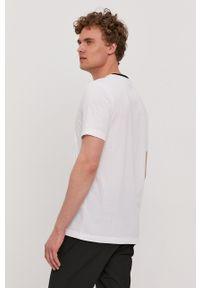 BOSS - Boss - T-shirt Boss Athleisure. Okazja: na co dzień. Kolor: biały. Wzór: nadruk. Styl: casual
