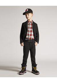 DSQUARED2 KIDS - Flanelowa koszula w kratę 8-16 lat. Okazja: na co dzień. Kolor: czerwony. Materiał: jeans, bawełna. Długość rękawa: długi rękaw. Długość: długie. Sezon: lato. Styl: wizytowy, elegancki, casual
