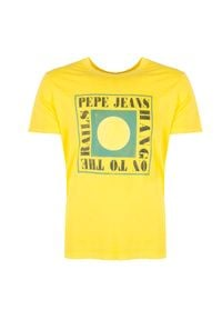 """Pepe Jeans T-shirt """"Morris"""". Okazja: na co dzień. Materiał: bawełna. Wzór: nadruk. Styl: casual"""