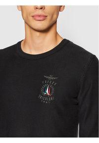Aeronautica Militare Sweter 212MA1158L282 Czarny Regular Fit. Kolor: czarny