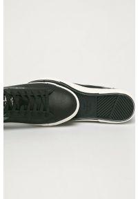 Czarne sneakersy Pepe Jeans na sznurówki, z okrągłym noskiem #4