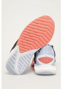 Niebieskie buty sportowe New Balance na niskim obcasie, na obcasie, z cholewką, do biegania