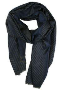 Niebieski szalik Teer na spacer, elegancki, na wiosnę