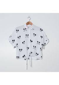 House - Wiązana koszula Mickey Mouse - Biały. Kolor: biały. Wzór: motyw z bajki