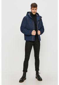 Niebieska kurtka Wrangler na co dzień, z kapturem, casualowa