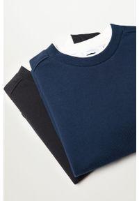 Niebieska bluza Mango Kids bez kaptura, gładkie