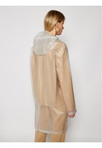 Biała kurtka przeciwdeszczowa Rains