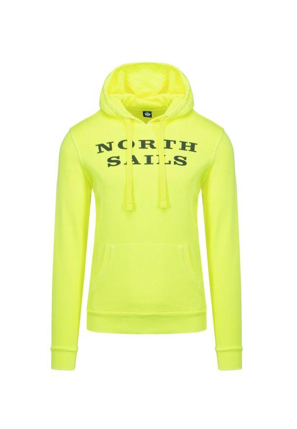 North Sails - Bluza NORTH SAILS HOODED SWEATER W/GRAPHIC. Typ kołnierza: kaptur. Kolor: żółty. Materiał: bawełna. Wzór: nadruk