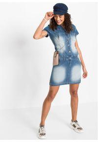 "Sukienka dżinsowa bonprix niebieski ""stone"". Kolor: niebieski"