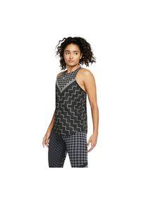 Koszulka damska do biegania Nike Tank Runway CQ7869. Materiał: materiał, poliester, elastan. Technologia: Dri-Fit (Nike). Długość: krótkie. Sport: fitness, bieganie