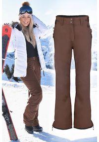 Brązowe spodnie IVET na zimę, sportowe