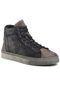 Sergio Bardi - Sneakersy SERGIO BARDI - SB-49-10-000973 601. Okazja: na co dzień. Kolor: szary. Materiał: skóra. Styl: sportowy, casual