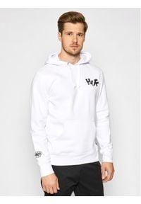 HUF Bluza HAZE Brush PF00369 Biały Regular Fit. Kolor: biały
