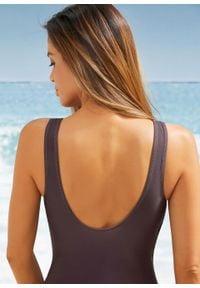 Kostium kąpielowy shape Level 1 bonprix brązowy. Kolor: brązowy