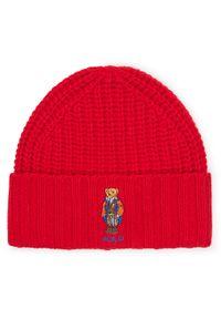 Czerwona czapka zimowa Polo Ralph Lauren