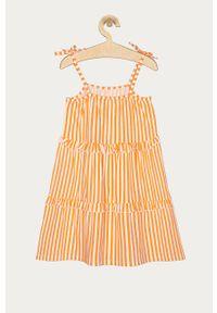 Pomarańczowa sukienka Name it na ramiączkach, oversize