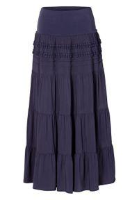 Niebieska spódnica bonprix na lato, długa