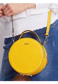 Żółta torebka ROVICKY gładkie, skórzana