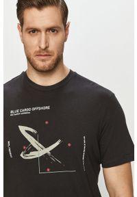 Szary t-shirt Only & Sons z nadrukiem, casualowy, na co dzień