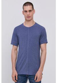 Nike - T-shirt. Okazja: na co dzień. Kolor: niebieski. Materiał: tkanina, dzianina, skóra, włókno. Wzór: gładki. Styl: casual