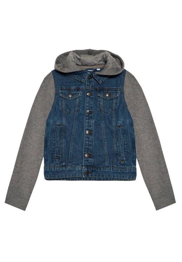 Name it - NAME IT Kurtka jeansowa 13193705 Granatowy Regular Fit. Kolor: niebieski. Materiał: jeans