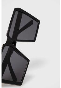 Czarne okulary przeciwsłoneczne Aldo prostokątne, gładkie