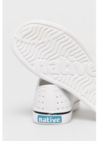 Native - Tenisówki Miles. Nosek buta: okrągły. Kolor: biały. Materiał: guma