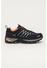 Niebieskie buty trekkingowe CMP z cholewką, z okrągłym noskiem