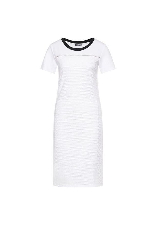 Biała sukienka Liu Jo Sport prosta, na co dzień, casualowa