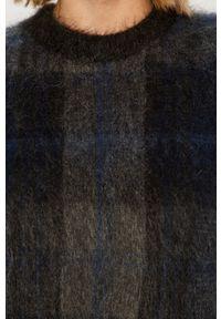 Niebieski sweter Stefanel z włoskim kołnierzykiem, z długim rękawem, casualowy, długi