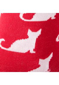 Czerwone skarpetki Cup of Sox w kolorowe wzory