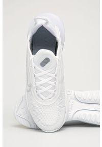 Białe buty sportowe Nike Kids z okrągłym noskiem, na platformie