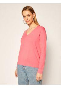 Różowy sweter klasyczny Tommy Jeans