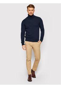 Niebieski sweter klasyczny Trussardi Jeans
