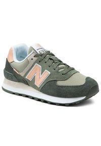 New Balance Sneakersy WL574SZ2 Zielony. Kolor: zielony