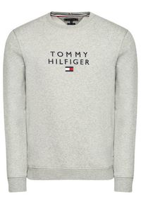 TOMMY HILFIGER - Tommy Hilfiger Bluza Stacked Flag Crewneck MW0MW18299 Szary Regular Fit. Kolor: szary