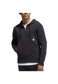 Bluza Adidas z podwójnym kołnierzykiem, z długim rękawem, długa, sportowa