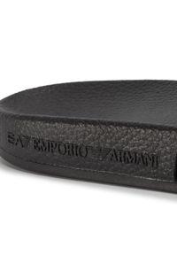 Czarne klapki EA7 Emporio Armani na co dzień, casualowe