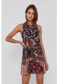 Desigual - Sukienka x Monsieur Christian Lacroix. Okazja: na co dzień. Materiał: tkanina. Długość rękawa: na ramiączkach. Typ sukienki: proste. Styl: casual