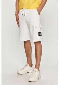Białe szorty Calvin Klein Jeans gładkie, na co dzień, casualowe