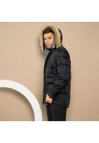 Czarna kurtka Wittchen klasyczna, na zimę