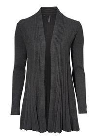 Freequent Sweter Claudisse lång ciemny szary melanż female szary M (40). Kolor: szary. Materiał: prążkowany, dzianina. Wzór: melanż