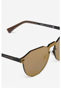 Hawkers - Okulary STEVE AOKI GUN METAL VEGAS. Kształt: okrągłe. Kolor: brązowy