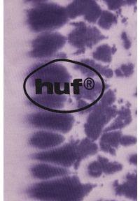 HUF - Longsleeve. Kolor: fioletowy. Materiał: dzianina. Długość rękawa: długi rękaw