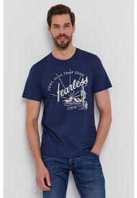 s.Oliver - s. Oliver - T-shirt. Okazja: na co dzień. Kolor: niebieski. Materiał: bawełna, poliester. Wzór: nadruk. Styl: casual