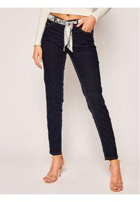 Niebieskie spodnie materiałowe Cavalli Class