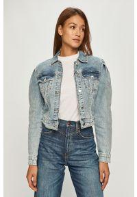 Niebieska kurtka Guess Jeans bez kaptura, na co dzień
